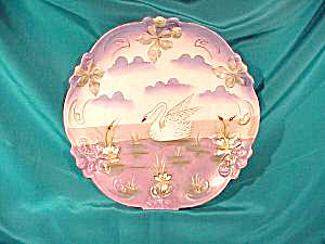 RS PRUSSIA (UM) TIFFANY SATIN SWAN PLATE (Image1)