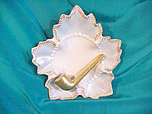 RS PRUSSIA (?) GOLD PIPE  ASHTRAY (Image1)