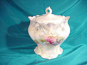 RS PRUSSIA (RM) SNOWDROP MOLD BISCUIT JAR (Image1)