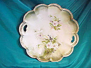 MINT RS PRUSSIA (RM) SCALLOPED PANSIES PLATE (Image1)