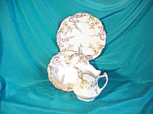 UNMARKED  CHILD'S MUSH SET, GOLD AND GREEN (Image1)