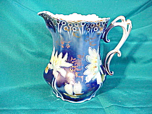 RS PRUSSIA (UM) COBALT PITCHER - ORNATE (Image1)