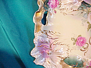 RS PRUSSIA(RM) CARNATION TIFFANY & GOLD TRAY (Image1)