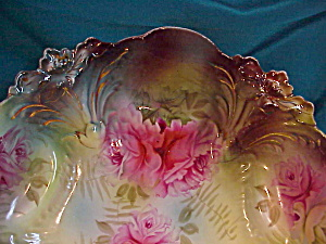 RS PRUSSIA (UM) LILY MOLD BOWL W/ROSES (Image1)