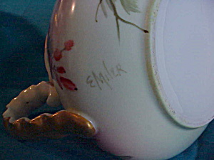 SIGNED RS(?) LIMOGE(?) H.P. MILK PITCHER (Image1)