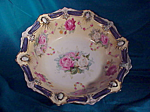RS PRUSSIA RIBBON &JEWEL BOWL W/TIFFANY (Image1)