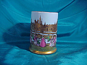 GERMAN HAND PAINTED MUG (AUGSBURG) W/GOLD (Image1)
