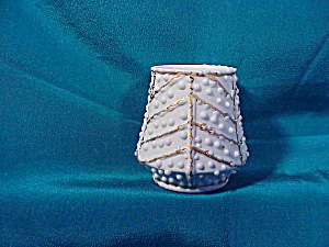 RS PRUSSIA(?) WHITE & GOLD TOOTHPICK W/BEADS (Image1)