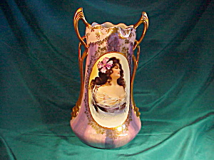 RS PRUSSIA(ES) LG PORTRAIT VASE-ORNATE/GOLD (Image1)