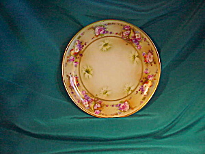 KPM HAND PAINTED PLATE/FLOWERS AND FRUIT (Image1)