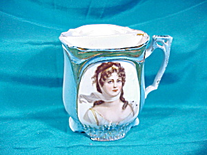 "UNMARKED ""QUEEN LOUISE"" SHAVING MUG (Image1)"