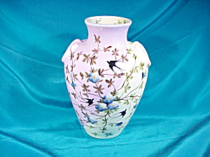 RS PRUSSIA(ES DEPON) VASE W/SWALLOWS (Image1)