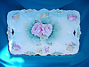 RS PRUSSIA(CROWN MK) LILY MOLD TRAY W/ROSES (Image1)
