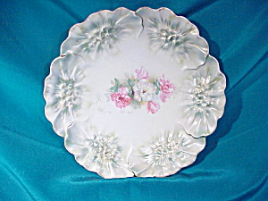 RS PRUSSIA(RM) SUNFLOWER MOLD SATIN PLATE (Image1)