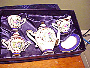 Deleon Child's Individual Tea Set/cobalt