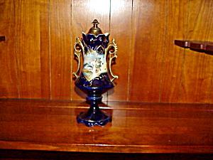 RS PRUSSIA COBALT PORTRAIT URN (Image1)