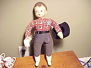 SHERIFF DOLL/HARD PLASTIC/ORIG.GUN=BADGE (Image1)