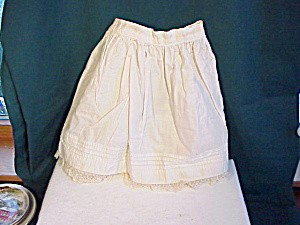 ANTIQUE DOLL PETTICOAT WITH TUCKS/LACE (Image1)