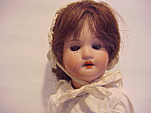 ANTIQUE KESTNER? 11 INCH BISQUE HEAD DOLL (Image1)