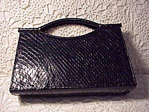 BON GOUT SNAKESKIN HANDLED BAG (Image1)