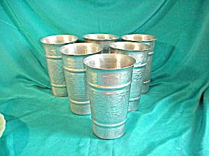 HAMMERED ALUMINUM SET OF SIX GLASSES (Image1)