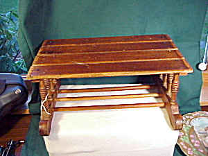 ANTIQUE TABLE -WOOD WITH TURNED LEGS (Image1)