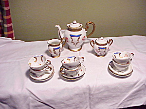 ANTIQUE TEASET W/COBALT (Image1)