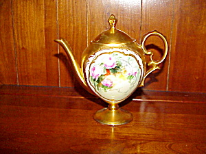 Rs Prussia Pedestal Hp Teapot Gold