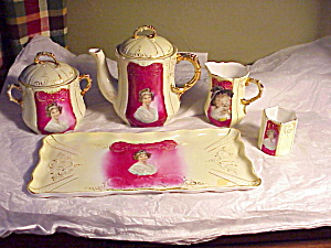 Rs Prussia Teaset Portrait Tray And Toothpic