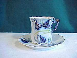 Rs Prussia Cobalt Snowdrop Cup/saucer