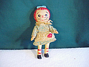 OLD SMALL RAGGEDY DOLL,JOINTED (Image1)