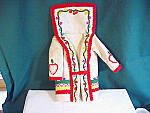 Felt Coat With Bright Decorations