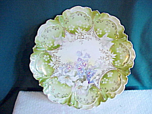 Rs Prussia Piecrust Mold Ornate Plate Hp Nr