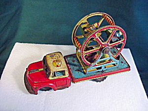 Vintage Tin (TN)Ferris Wheel on Flatbed Truck (Image1)