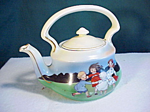 Royal Bayreuth Child Portrait Tea Pot Nr