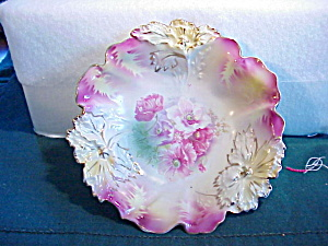 RS PRUSSIA CARNATION MOLD BERRY BOWL N.R. (Image1)