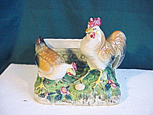 Marked Japanese Hen,Rooster,Egg Planter (Image1)