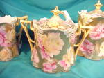 Click to view larger image of RS PRUSSIA LILY MOLD TEA SET W/GOLD,GOLD,GOLD (Image2)