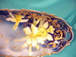Click to view larger image of RS PRUSSIA COBALT RELISH W/DAFFODILS/GOLD (Image2)