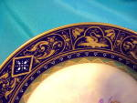 Click to view larger image of ROYAL VIENNA COBALT/GOLD PSYCHE PLATE-MINT (Image3)