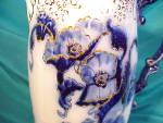 Click to view larger image of RS PRUSSIA(?) COBALT/GOLD LEAF SPOUT PITCHER (Image2)