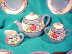 Click to view larger image of MADE IN JAPAN BLUE LUSTRE CHILD'S TEA SET (Image3)