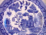 Click to view larger image of CHILDS TEA SET BLUE WILLOW PLATE (Image2)