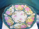 Click here to enlarge image and see more about item 2368: NIPPON HUGE HAND PAINTED PLATTER