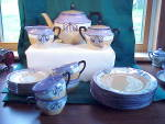 Click to view larger image of RS PRUSSIA ART NOUVEAU 21 PC TEA SET (Image1)