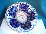 EXQUISITE RS PRUSSIA COBALT RETICULATED PLATE