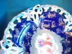 Click to view larger image of EXQUISITE RS PRUSSIA COBALT RETICULATED PLATE (Image2)