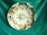 Click here to enlarge image and see more about item 2P: RS PRUSSIA UM OPEN HANDLED PLATE MOLD 29, HEAVY GOLD
