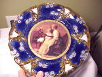 Click to view larger image of ROYAL VIENNA CROWN COBALT/GOLD PORTRAIT (Image1)