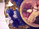 Click to view larger image of ROYAL VIENNA CROWN COBALT/GOLD PORTRAIT (Image3)